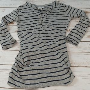 Tops - Belly by design maternity shirt top small striped